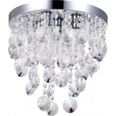 Photo Gallery In Website Large crystal droplets love this bathroom safe modern chandelier