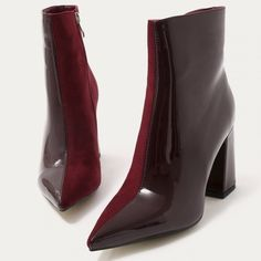 Sock Shoes, Cute Shoes, Me Too Shoes, Shoe Boots, Shoes Heels, Fashion Heels, Fashion Boots, Burgundy Boots, Black Boots