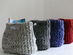 Tasche - handmade crocheted bags out of new wool, colored with natural colors   accessories  bags . Accessoires  Taschen . accessoires  sacs   Design made in Germany: monka   InteriorPark  