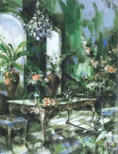 Jeremiah Goodman_Green and floral room