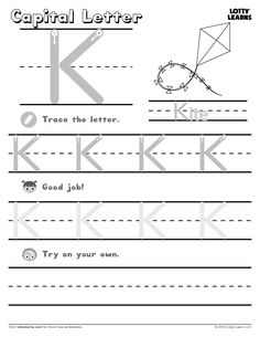 Capital Letter K | Lotty Learns