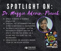 Dr. Maggie Aderin-Pocock - Black Authors from Usborne Books & More – Jaime's Book Corner Black Authors, Time In The World, Book Corners, Grand Tour, Read Aloud, Worlds Of Fun, Nonfiction Books, Solar System, Mind Blown