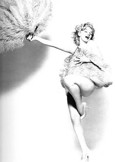 Marilyn as Sally Rand by Avedon, 1957