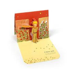 Le Petit Prince Love Pop-Up Card - Rose Garden