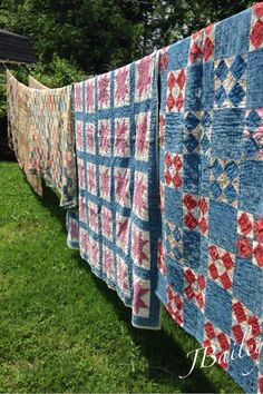 Another picture of the early blue quilts