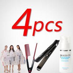 Brazilian Hair Keratin Treatment 120ml +Hair Iron +Cheap Salon Cloth+Hair Comb #BrazilianHairChina