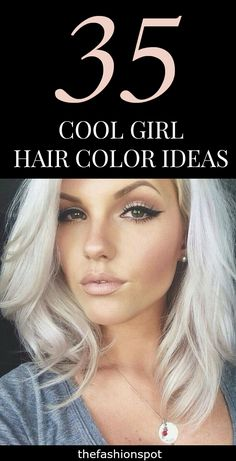 Idée Maquillage 2018 / 2019 : Want to try a fun unique hair color this summer? Girl Hair Colors, Cool Hair Color, Hair Colours, Unique Hair Color, Unique Hairstyles, Pretty Hairstyles, Corte Y Color, Tips Belleza, Great Hair