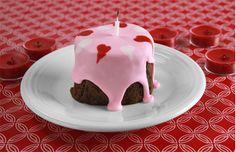 Valentine Votive Candle Brownies