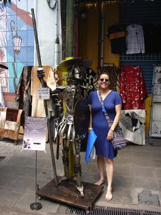 Ella, en La Boca, Buenos Aires, Argentina.