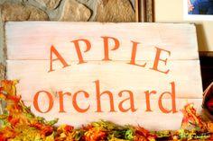 Fall Decor-  DIY Apple Orchard Sign