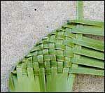 an alternative start to weaving a flax flower