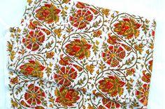 Hand Block Print 5yard Indigo Fabric Indian Cotton Fabric Indigo Dye Block Print #Handmade