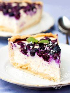 Cheesecake di robiola ai mirtilli neri - #cheesecakeaimirtilli