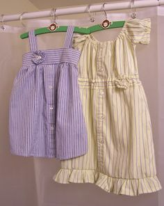 Baby & toddler dresses from repurposed dress shirts