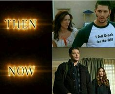 Then and now of the Ackles on screen together