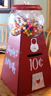 Gumball Machine Valentine Box