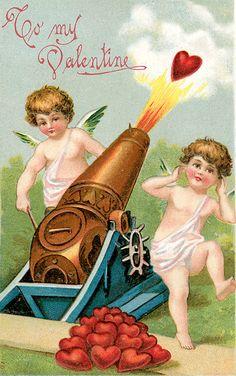 Vintage Valentine cherub