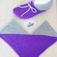 Hashtag Gulumsetenmarifetlerpatik En In - Diy Crafts Knitted Booties, Crochet Boots, Crochet Baby, Knit Crochet, Knit Slippers Free Pattern, Crochet Slipper Pattern, Crochet Slippers, Baby Hats Knitting, Knitting Socks