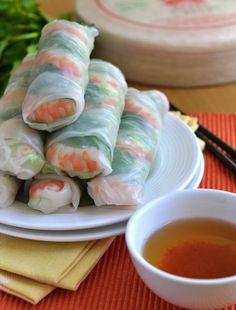 Vietnamese summer rolls - MY FAVE!
