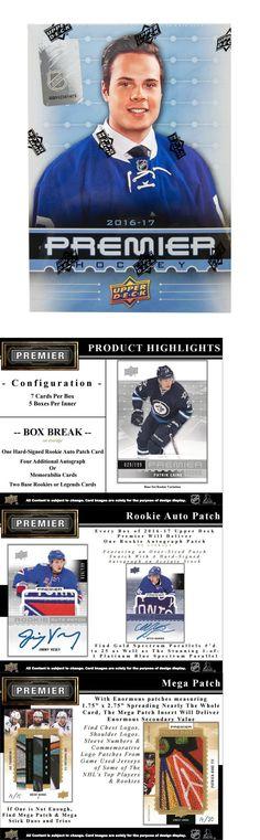 Ice Hockey Cards 216: 2016-17 Upper Deck Premier Nhl Hockey Factory Sealed Hobby Box -> BUY IT NOW ONLY: $244.95 on eBay!