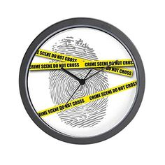 CafePress  CRIME SCENE  Unique Decorative 10 Wall Clock -- This is an Amazon Affiliate link. To view further for this item, visit the image link.