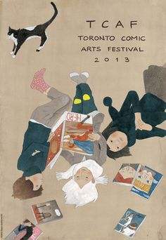 torontocomics: TCAF 2013 Poster by Taiyo Matsumoto. Lettering by Michael DeForge.