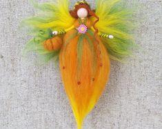 Autumn fairy, Autumn mood, Fairy doll, Fairy needle felted, Fairy ornament, Felt Fairy, Waldorf Fairy, Waldorf dolls.