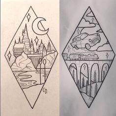 Image result for harry potter half sleeve tattoos