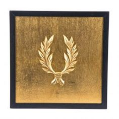 Handmade Wall or Table Laurel Wreath Gold Patinated, Framed 3d Wall Art, Wall Art Decor, How To Make Ornaments, How To Make Wreaths, Artwork Display, Framed Artwork, Laurel Wreath, Handmade Decorations, Sculptures