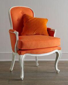 """""""Breena"""" Pompadour Armchair by Florence de Dampierre at Horchow."""