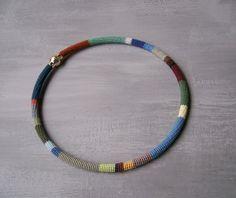 Herren Choker Halskette Unisex Boho-Seil-Kette von vanessahandmade