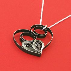 Quilled Asymmetric Heart Necklace Tutorial