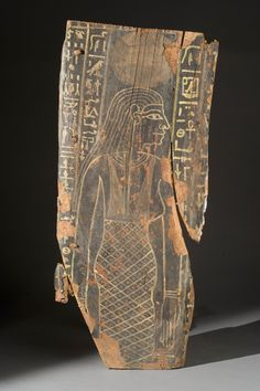 Photo: Michael Barnes, Smithsonian    Coffin fragment, 1200-1000 BC, of the sky goddess Nut.