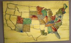 United States String Art - I saw a bunch of individual states done this way, but...