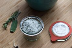 Flavored Salts for Gift Giving (Recipe: Sage Rosemary Salt)