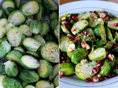 Brussel sprouts with pomegranate