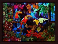 Stained Glass Bird Window