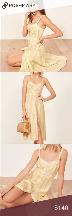 9f8c89e396 Reformation Sandalwood Dress Completely unworn and gorgeous! This is a midi  length dress with center