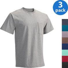 Fruit of the Loom Men's Short Sleeve Pocket Tee, 3 Pack - Walmart.com