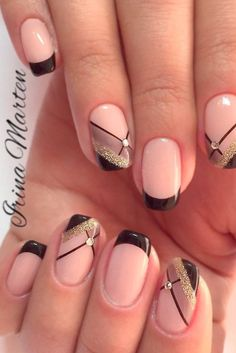Beautiful nail art designs that are just too cute to resist. It's time to try out something new with your nail art. Fancy Nails, Love Nails, Trendy Nails, Diy Nails, Nail Art Diy, Fabulous Nails, Gorgeous Nails, Manicure E Pedicure, French Pedicure