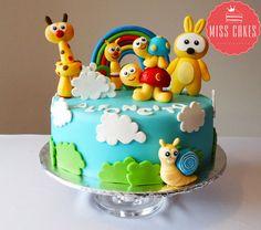 Baby Tv Cake, BabyTv torta, Children Cake. Baby Tv Cumpleaños, Baby Tv Cake, Baby Boy Cakes, Cakes For Boys, Girl Cakes, Fondant Baby, Fondant Cakes, Cupcake Cakes, Safari Birthday Cakes