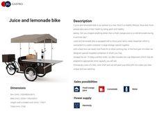 Most popular mobile machine for sellin juice & lemonade in Europe #gastrobike #icecreambike #gelatobike #eisfahrrad #veloglace #coffeebike #juicebike #jggastro #coffee #bike #streetfood #icecream #grillbike #hotdogbike More info on www.gastro-bike.com