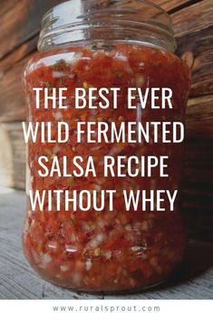 The Best Ever Wild Fermented Salsa Recipe Without Whey - - When tomatoes are ripe and in season – make salsa! Fermentation Recipes, Canning Recipes, Kombucha, Dry Food Storage, Salsa Recipe, Stuffed Sweet Peppers, Food Waste, Healthy Recipes, Broccoli Recipes