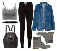 """Casual"" by wolfiexo ❤ liked on Polyvore featuring New Look, Pull&Bear, Timberland, MAC Cosmetics, MCM, black, denim and casualoutfit"