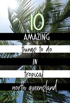 Adventure capital of Australia; here are 10 amazing, adventurous activities you can do in Tropical North Queensland! Visit Australia, Australia Travel, Australian Holidays, Cairns Queensland, Working Holidays, New Zealand Travel, Great Barrier Reef, Beach Fun, Trip Planning