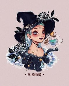 Cute Dragon Drawing, Witch Drawing, Character Art, Character Design, Cute Dragons, Zodiac Art, Zodiac Signs, Witch Art, Witch Aesthetic