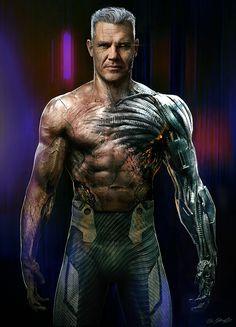Deadpool 2 Cable Concept art, Jerad Marantz on ArtStation Marvel Concept Art, Robot Concept Art, Panzer Tattoo, Arte Assassins Creed, Cable Marvel, Marvel Dc, Space Opera, Arte Cyberpunk, Cyberpunk Aesthetic