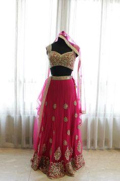 Majenta color bridal lehenga choli