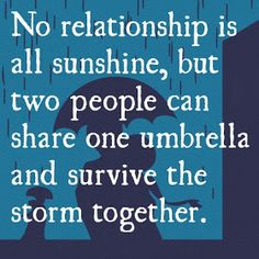 Positive Inspirational Quotes: No realationship is all sunshine...