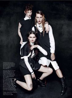The Black Magazine Issue 17 Editorial Deals in the Dark Arts #backtoschool #fashion trendhunter.com